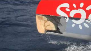 Helly Hansen - Thomas Coville audio report after the collision.