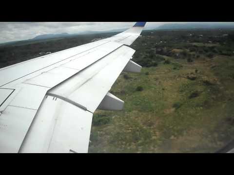 Aterrizaje en  la ciudad de Nicaragua