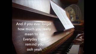 Bruno Mars - Count on me piano cover + lyrics