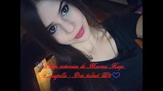 ❤ Petite interview de Marina Kaye + acapella - Prix talent W9 ❤