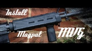 Install The Magpul MVG MOE Grip (How To) HD