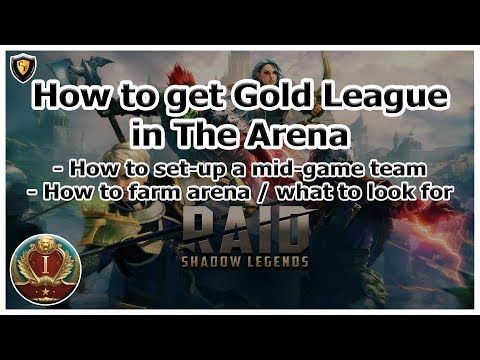 RAID: SL - How to get Gold League in The Arena