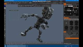 Speed painting on 3D robot