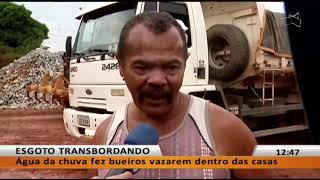 JL - Sol Nascente: água invadiu casas e deixou moradores ilhados