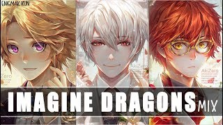 Nightcore ~ Believer ✗ Thunder ✗ Whatever It Takes (Switching Vocals) | Imagine Dragons MASHUP