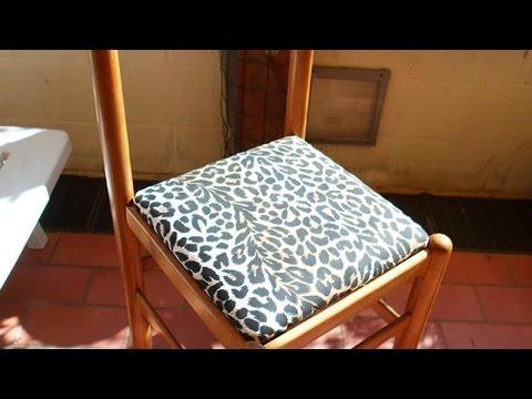 Come rivestire una sedia da ufficio fai da te mania - Tappezzare una sedia ...