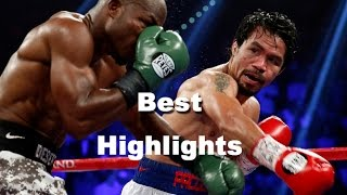 BEST HIGHLIGHTS - The Greatest moments of Manny Pacquiao VS. Floyd Mayweather, Jr.. 2015 (FULL HD) width=