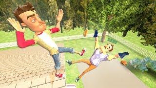 Hello Neighbor: RAGDOLLS JUMPS & FALLS [GMOD] - Episode 10