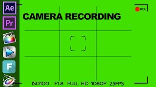 Camera Recording Template Free on Green Screen ( Filmora )