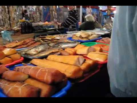 Fish and Seafood market in Odessa, Ukraine
