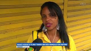 """Band Cidade - """"Ruas vazias e clima tenso em São Gonçalo do Retiro"""""""