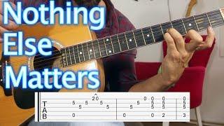Nothing Else Matters - Metallica - Nasıl Çalınır Gitar dersi Guitar Lesson & Tutorial width=