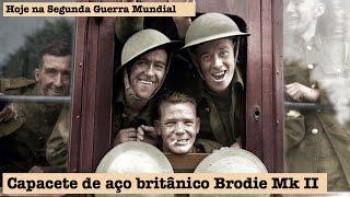 Capacete de aço britânico Brodie Mk II