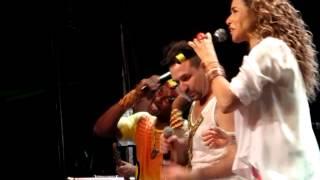 Daniela Mercury con Olodum. Swing da cor.