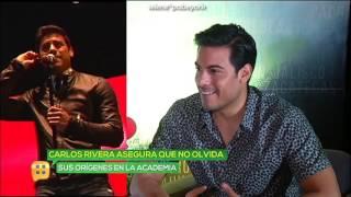 Carlos Rivera compartió escenario con  Yuri