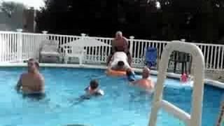 sam drowning porky in pool
