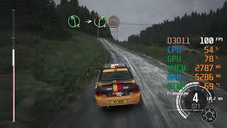 GeForce RTX 2060 -- Intel Core i5-6600K -- DiRT Rally Benchmark