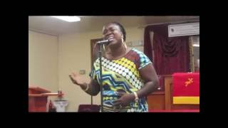 Me SINGING...( I am that I am..! ) At my HOME church,First Vision Baptist Church!