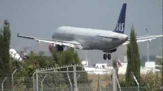 Sas Airbus 321 LN-RKI Landing Malaga AGP