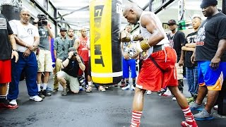 Floyd Mayweather Media Workout | Tuesday, April 14th
