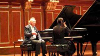 Alfred Brendel, Masterclass at New England Conservatory November 5, 2009
