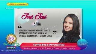 Audio donde Sarita presiona a José José para ceder sus derechos y llevarlo a Miami | Sale el Sol