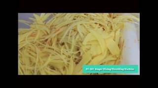 Automatic Ginger Raddish Potato Strips Pieces Slicing Shressing Machine