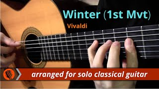 The Four Seasons, Winter, 1st mvt, A.Vivaldi (solo classical guitar arrangement by Emre Sabuncuoglu)