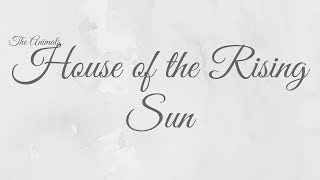 House of The Rising Sun- The Animals Cover *KARAOKE BELOW*
