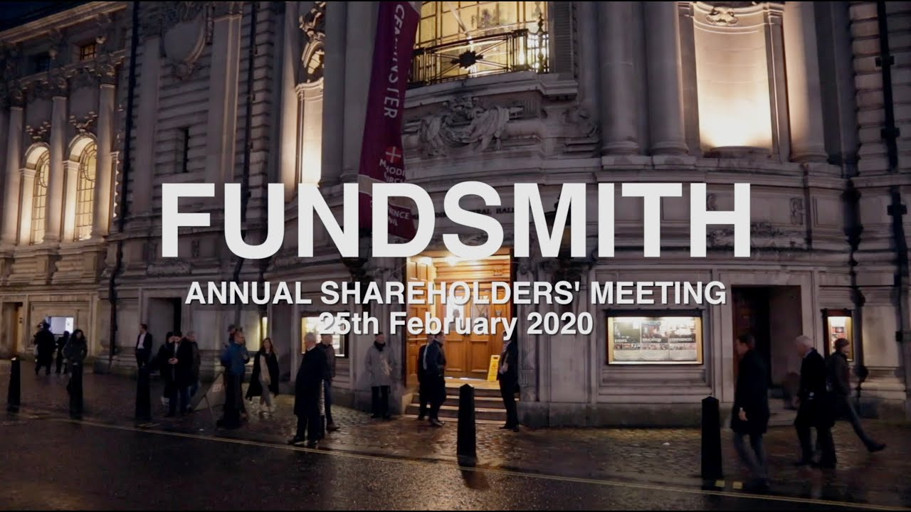 FUNDSMITH Annual Shareholders' Meeting 25th February 2020