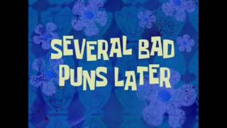 "SpongeBob all time cards part 12 ""Several bad puns later"""
