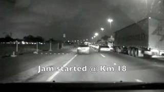 Truck lane jam @ Marginal Tiete