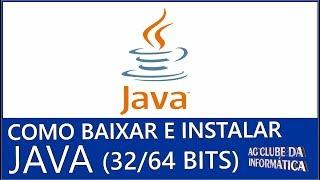Como baixar e instalar Java 8 todas as versões (32Bits e 64bits) todas versões