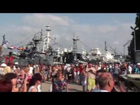 07-25-2010 Part 25 of 31 – Waiting to tour a Russian ship at Sevestopol, Crimea, Ukraine.wmv