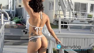 Sexy Thaise Modeling A Berrydog Sheer Micro Thong Bikini