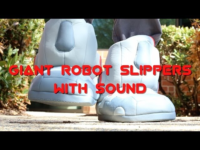 1786d2350349 Giant Robot Slippers with Sound