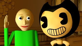 [SFM] If BALDI was in BENDY AND THE INK MACHINE - Baldi's Basics animation.