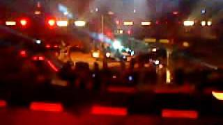 Nickelback Burning to the ground live Stock Car Crash challange 2009