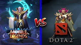 Mobile Legends vs DOTA 2 Side by Side Hero Comparison