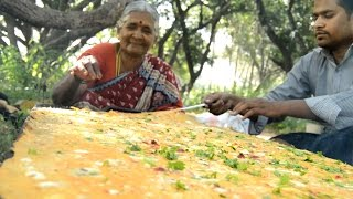 How To make world's Biggest Egg Omelet My Grandma || Myna Street Food || Food Info