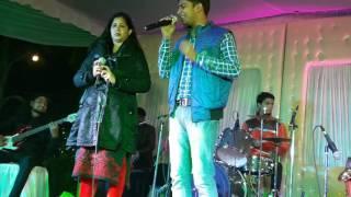 Tere naam hamne kiaa hai Live concert  singer deepak singh with sheelu srivastava ji