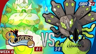 "GBA S7W6 Philadelphia Scizors vs Tampa Bay Luxrays ""Let go of your Earthly tether"""
