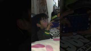 Gui cantado a música do desenho PJ Masks em inglês 😂😂