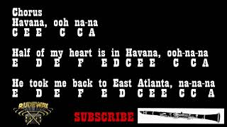 Camila Cabello - HAVANA - (Bb Clarinet Notes)