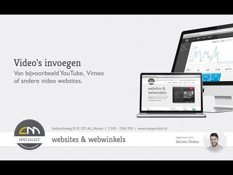 Youtube/Vimeo video invoegen