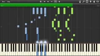 [HQ] Porco Rosso - The Bygone Days ( Joe Hisaishi ) - Jazz Piano tutorial ( Synthesia )