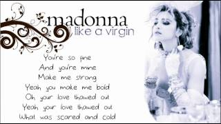 Madonna - Like A Virgin (with Lyrics on Screen)