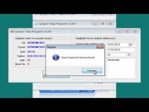 Çalışan Takip Programı v1.0.0  -  Tanıtım Videosu