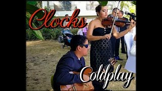 Coldplay - Clocks - Eleganza Violin & Guitar Ensemble