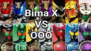 Satria Naga Bima X VS Kamen Rider OOO width=